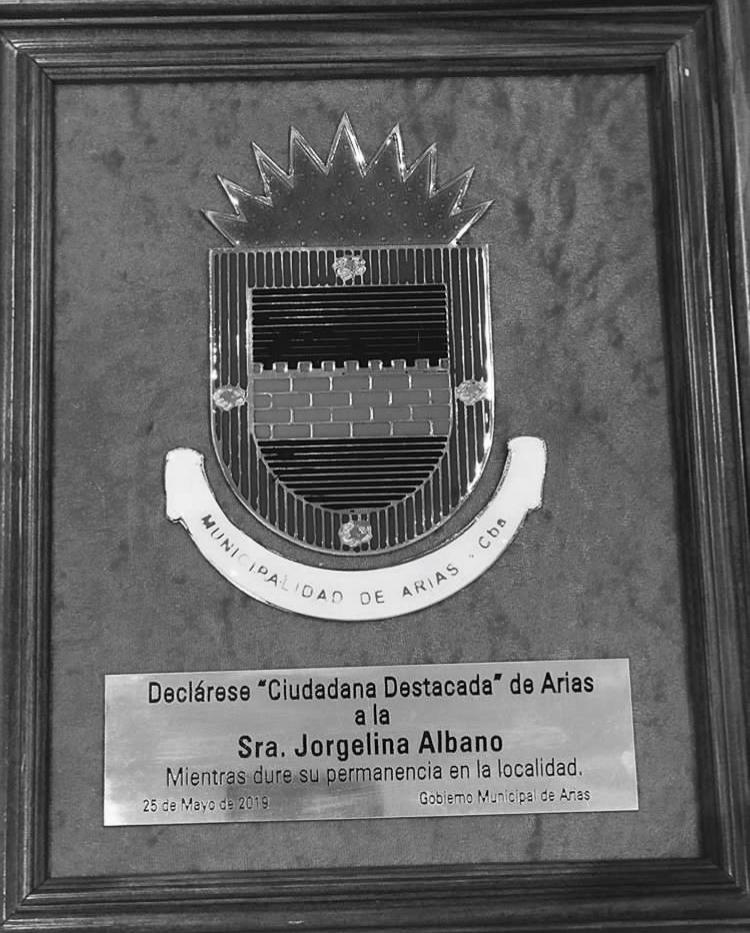 Jorgelina Albano, ciudadana destacada